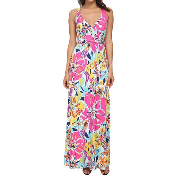 7481f356cb Lilly Pulitzer Dresses   Skirts - Lilly Pulitzer Amada Maxi Dress in Besame  Mucho